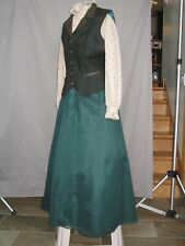 Victorian Dress Edwardian Civil War Western Prairie Style Walking Suit