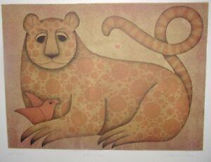 "CAROLYN JABLONSKY, ""CHEETAH"", S/N 219/300, Color Lithograph, Never Framed, COA"
