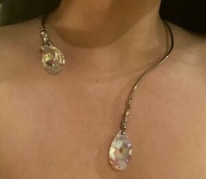 braccialini crystal necklace and cuff set