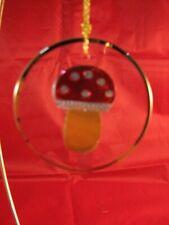 RARE Resl Lenz Disc Shape Mushroom Ornament