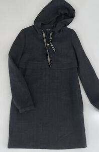 TWINSET Simona Barbieri Long Sleeve Hooded Wool Dress Tunic Size S $350