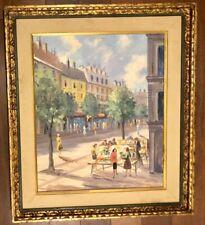 Albert Cragoni * Mid-Century Framed Original Oil on Canvas European Street Scene