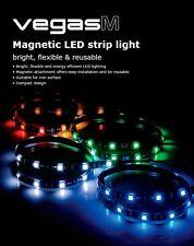 Akasa Vegas M White Magnetic 15 x LED Strip Light, Bright, Flexible + Reusable