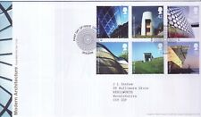 GB Stamps First Day Cover Modern Architecture, building SHS Spiral Pattern 2006