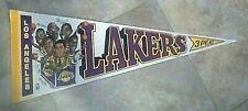 VINTAGE Felt LOS ANGELES LAKERS  PENNANT BANNER FLAG 3Peat 1980