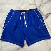 "Speedo Mens Blue Swim TrunksShorts 7840260 Size XL  9"" inseam"