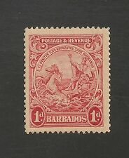 Barbados #194 (SG #249a) XF MLH - 1938 1p Seal Of Colony - Perf. 14