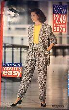 Butterick See&Sew 5970 pattern Misses'/Petite Jacket, Pants,Top sz 6,8,10 uncut