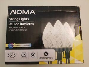 50CT Pure White Led String Lights C9, Noma
