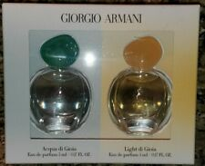 GIORGIO ARMANI  Acqua and Light di Gioia Eau de Parfum set 5ml/0.17oz each NEW
