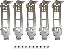 5pcs New Low Profile Bracket for HP NC523SFP 593717-b21 593742-001 593715-001 US