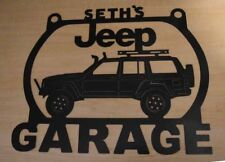 Jeep Cherokee Metal Garage sign Personalized Custom shop sign 3