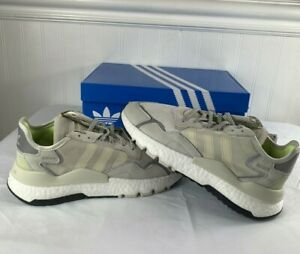 Adidas Nite Jogger Womens Running Shoes Raw White/Light Tan EE5917 Size 9-10