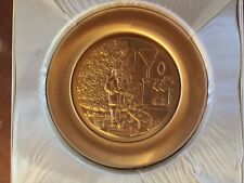 NORMAN ROCKWELL 24k GOLD CHRISTMAS 1976 PLATE