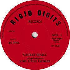 Stiff Little Fingers. Repro record label sticker. Suspect Device. Rigid Digits.