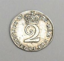 1739 two pence silver 2d S3714A George II  nice very fine+  VF25