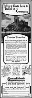 1927 German Railroads information office travel vintage photo print ad ads75