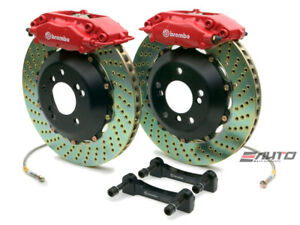 Brembo Rear GT Big Brake 4Pot Caliper Red 345x28 Drill Disc Supra JZA80 93-98