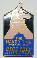Star Trek Original Series 4th Aired Episode The Naked Time Logo Metal Pin 1990