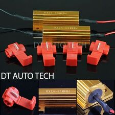4X 6ohm 50W LED Load Resistors Turn Signal Blinkers/Fog Lights Fix Hyper Flash