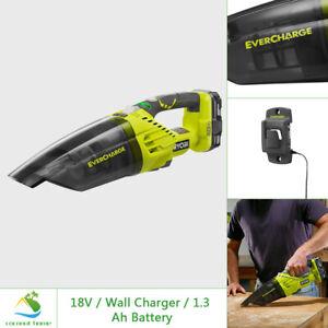 RYOBI 18V Cordless Vacuum Large Cap Lightweight Dual Filter w Battery & Charger