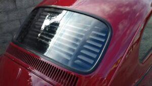 Volkswagen Beetle Bug Rear Window Venetian Blinds Black Fixed Slats VW 1965-77