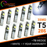 3 LED T5 286 WEDGE SMD CANBUS ERROR FREE WHITE BULBS DASHBOARD CLOCKS 12V 0.6W