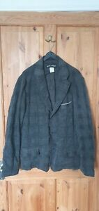 Issey Miyake Men Check Grey/Blue/Black Suit Jacket Size 4 (L) RRP £500 Brand New