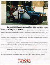 PUBLICITE ADVERTISING 104  1989  TOYOTA  HARRY le dépanneur