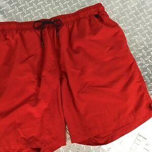 Mens Lands' End Men Swim Wear Red Trunks Size XXL