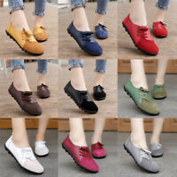 Women Casual Flats Moccasin Loafers Faux Leather Office Ladies Comfy Pumps Shoes