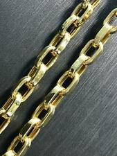 """BRITISH BELCHER FACETED DESIGN 14ct 14K 585 YELLOW GOLD Chain Necklace 30"""" 5MM"""