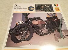 Carte moto FN 450 type 13 raid Bruxelles Kamina 1950 collection Atlas Motorcycle