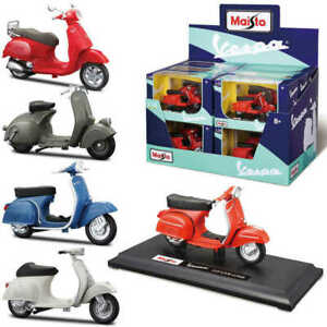 VESPA Scooter in 1:18 Die-Cast Scooter Model by MAISTO - New - Sealed box
