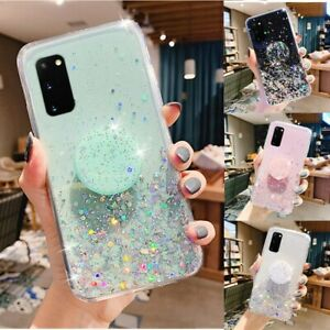 Bling Heart Kickstand Cute Phone Case Cover For Samsung Galaxy S21 Plus S20 S10