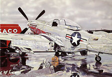 Postcard 467 - Aircraft/Aviation Vintage Mustang Sally Forth Ron Kleemann 1973