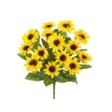 FBS193-YE 16 in. Yellow Sunflower Bush X14- Case of 12