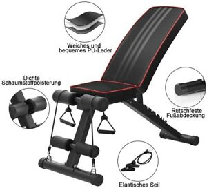 Adjustable Weight Bench Gym Workout Flat Incline Sit Up Lifting Barbell MAX UK