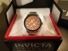 Invicta 18670 Eclipse Day Date Orange Glass Fiber Stainless Steel Mens Watch