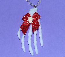 """Blanco Collar De Mano De Esqueleto Cráneo Gótico Emo Kawaii Lolita Zombie Psychobilly 20"""""""