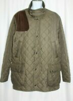 Vintage Polo Ralph Lauren Men's Quilted Barn Jacket Field coat Olive Green XLT