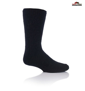 Thermal Wool Blend Socks Large Black ~ New