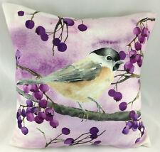 Print of a Bird on a Berry Bush FILLED Evans Lichfield Cushion