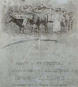 American Bank Note Company: Costa Rica Printing Plate (Coffee Harvesting)
