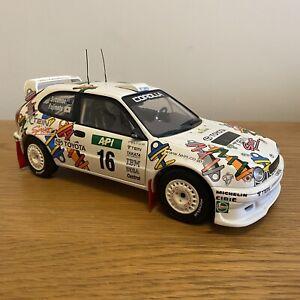 Used AUTOART Toyota Corolla WRC Australia 98 1:18 Scale 80028, Mint, no box