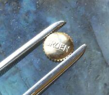 Vintage Gruen watch parts 2 signed GRUEN gold crowns NOS vintage 17 pairs sold