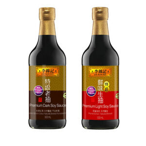 Lee Kum Kee Premium Soy Sauce - Light 500ml and Dark 500ml