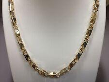 """18k Oro Amarillo Sólido de enlace hecho a mano para Hombres Cadena Collar 24"""" 103 gramos 5.5MM"""