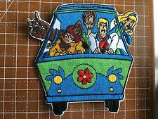 """Scooby-Doo & Gang in Mystery Machine  4"""" Tall Embroidered Patch Free Shipping US"""