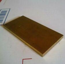1 pc .25 X 2 X 4 C360 yellow brass flat stock mill tool new solid block 1/4